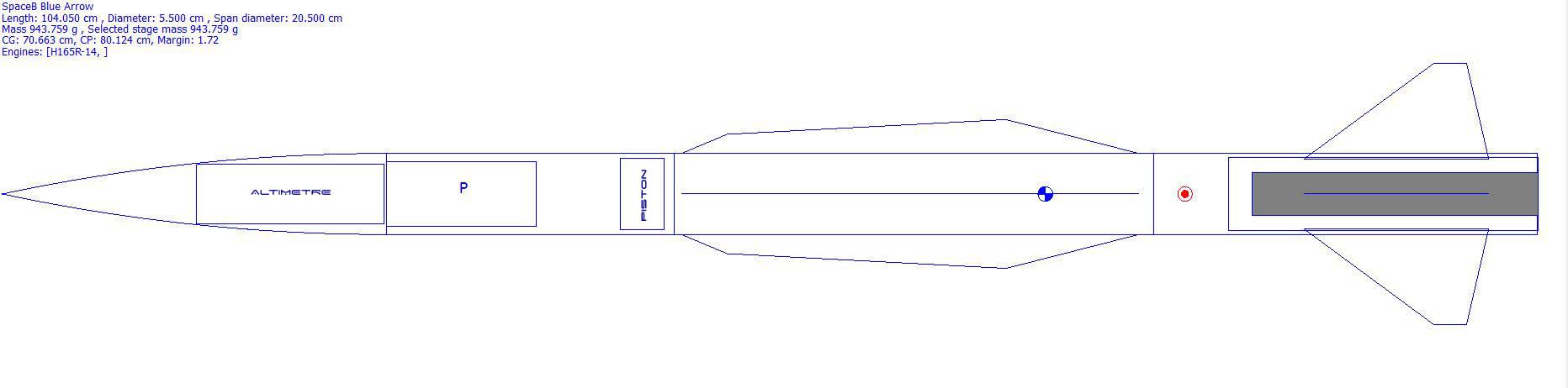 SpaceB -ArrowX1 pour le futur L1 SpaceB-Blue-Arrow-Rocksim1